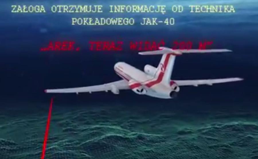 Kadr filmu PO o katastrofie smoleńskiej