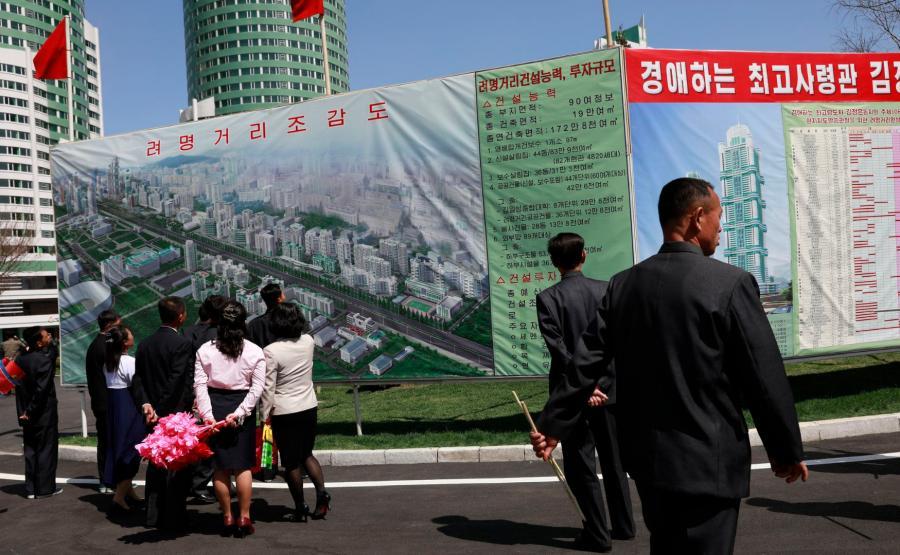 Nowe osiedle w Pjongjangu