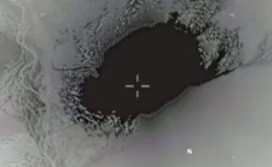 Fotografia rozpowszechniana przez amerykański departament obrony pokazująca eksplozję bomby MOAB