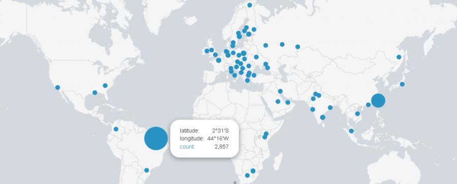 Mapa miejsc, w których udało się zapobiec atakom WannaCry