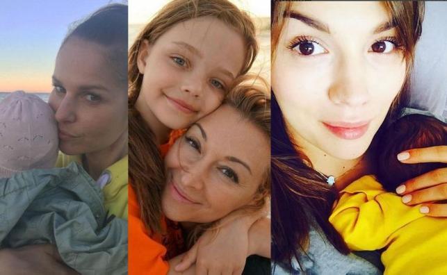 Paulina Sykut, Martyna Wojciechowska i Paulina Krupińska z dziećmi