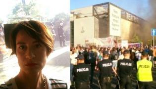 Maja Ostaszewska, protesty przed Teatrem Powszechnym w Warszawie