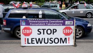 Protest taksówkarzy w Poznaniu