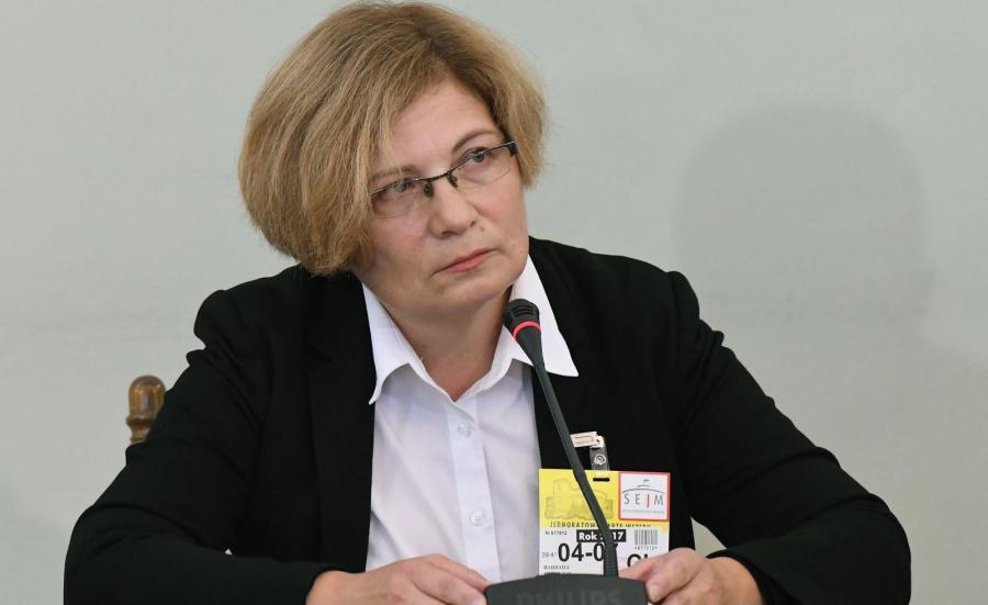 Prokurator Barbara Kijanko zeznaje przed sejmową Komisją śledczą