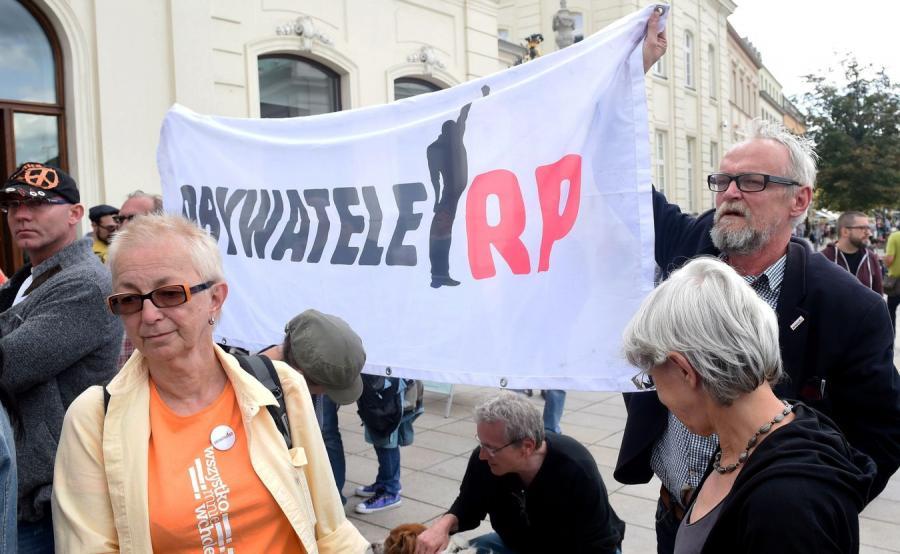 Lider ruchu społecznego Obywatele RP Paweł Kasprzak