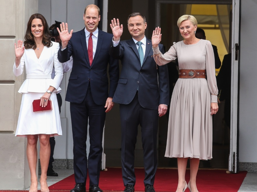 Księżna Catherine; książę William; Andrzej Duda; Agata Kornahauser-Duda