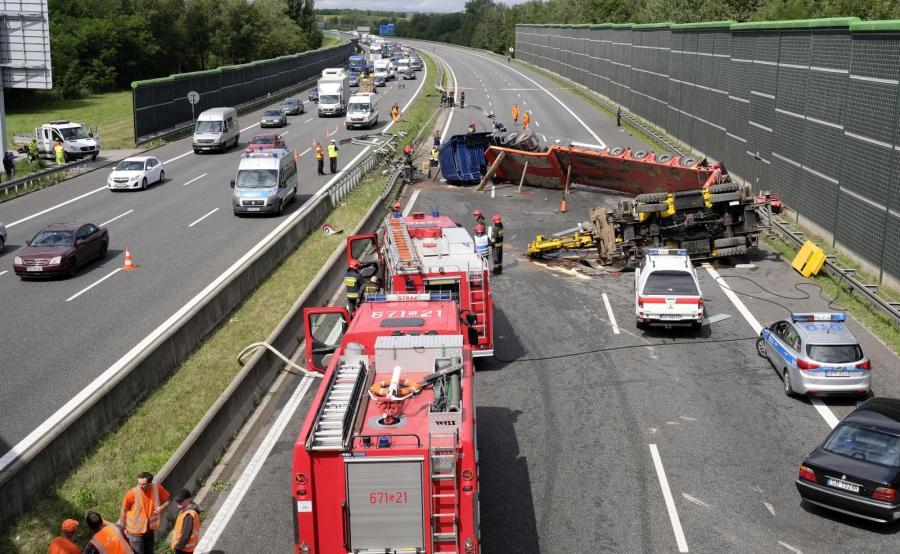 Wypadek na A4 w Zabrzu