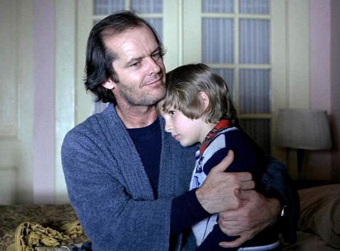 Danny Lloyd i Jack Nicholson w \