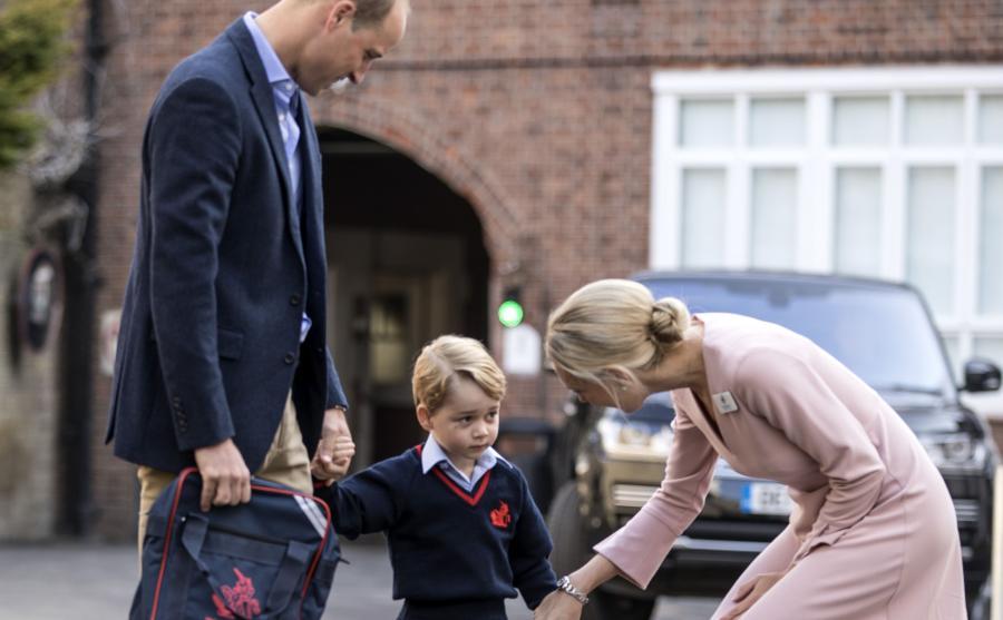 Książę Jerzy z rodzicami