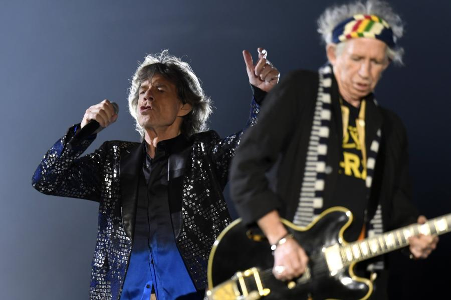 Mick Jagger i Keith Richards podczas koncertu The Rolling Stones w Zurychu, 20.09.2017