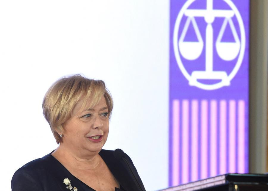 Pierwsza Prezes Sądu Najwyższego - prof. Małgorzata Gersdorf podczas uroczystości w ramach jubileuszu 100-lecia Sądu Najwyższego