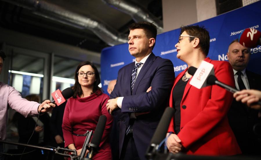 Kamila Gasiuk-Pihowicz, Ryszard Petru i Katarzyna Lubnauer