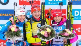 Kaisa Makarainen, Veronica Vitkova i Anastasiya Kuzmina