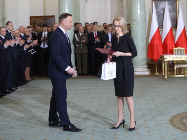 Andrzej Duda i Teresa Czerwińska