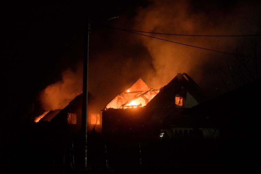 Pożar gazociągu w Murowanej Goślinie
