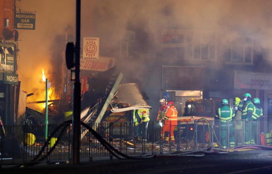 W Leicester zawalił się budynek, w którym wcześniej doszło do eksplozji