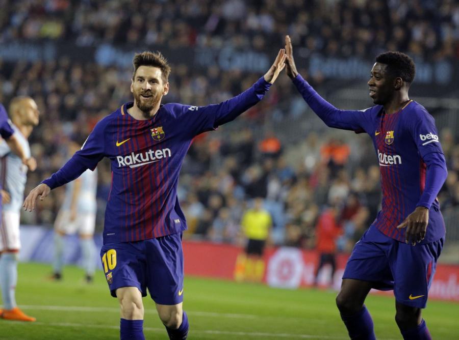 Lionel Messi i Ousmane Dembele