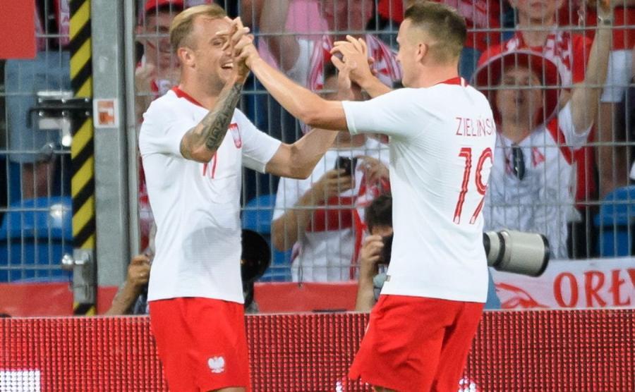 Kamil Grosicki i Piotr Zieliński