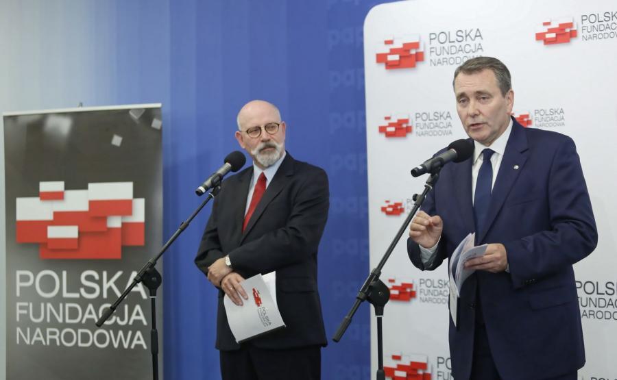 Prezes zarządu PFN Cezary Andrzej Jurkiewicz oraz członek zarządu Fundacji Maciej Świrski