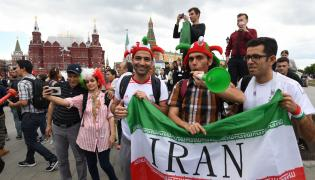 Kibice reprezentacji Iranu