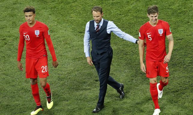 Pierwszy kontuzjowany w reprezentacji Anglii to... selekcjoner. Gareth Southgate zwichnął on prawy bark
