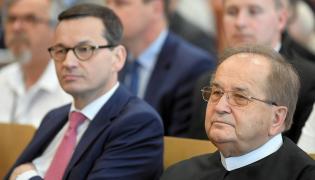 ojciec Tadeusz Rydzyk i premier Mateusz Morawiecki