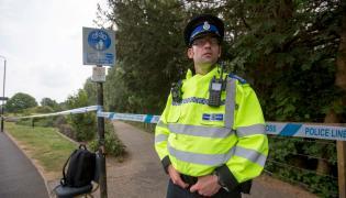 Brytyjski policjant w Salisbury