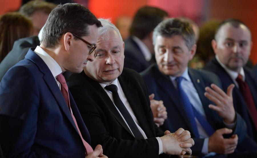 Premier Mateusz Morawiecki i prezes PiS Jarosław Kaczyński