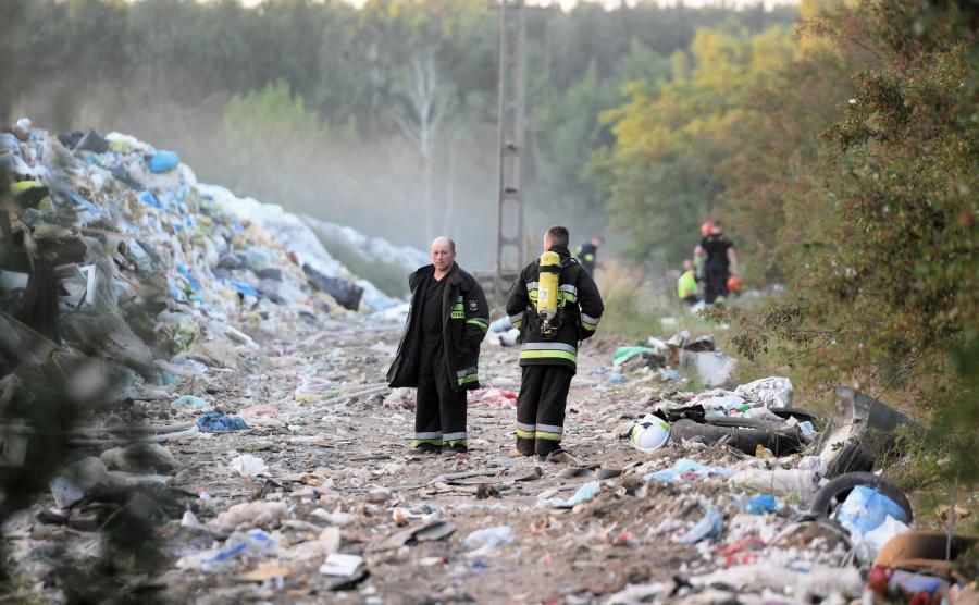 Pożar wysypiska śmieci