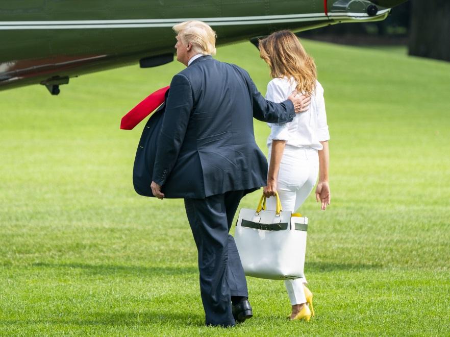 Melania i Donald Trumpowie