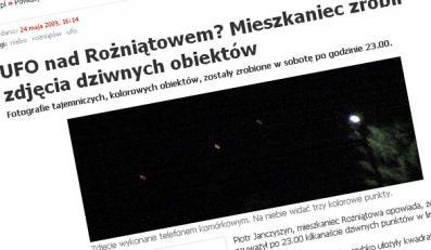 UFO przeleciało nad opolską wsią