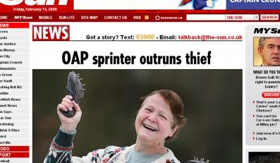 72-letnia babcia dogoniła złodziejkę