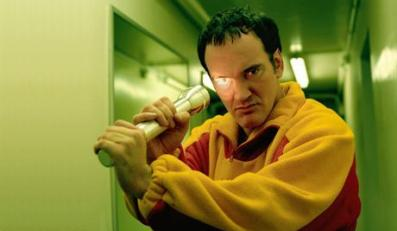 "07 Nov 2003, Paris, France --- Cult American director, Quentin Tarantino is in Paris to promote his fourth film, ""Kill Bill: Vol. 1"" which will be released in France on November 26, 2003 with Volume II to follow in 2004. --- Image by © Nicolas Guerin/Corbis"