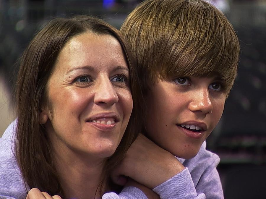 "Justin Bieber z matką ""Pattie"" Mallette"