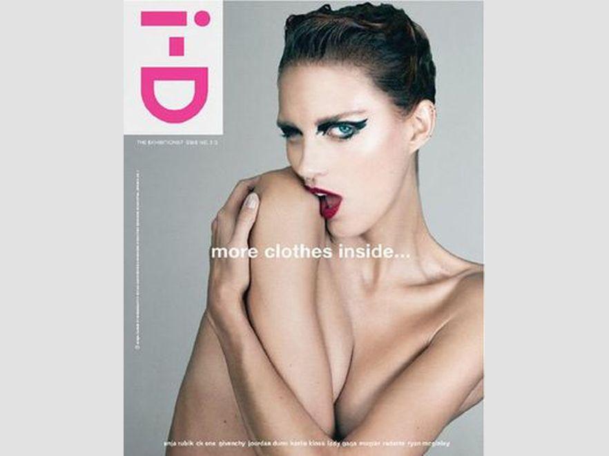Anja Rubik na okładce i-D Magazine, fot. Emma Summerton