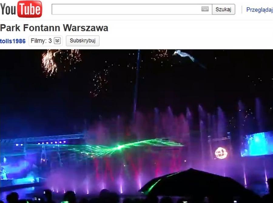 Otwarcie Parku Fontann w Warszawie