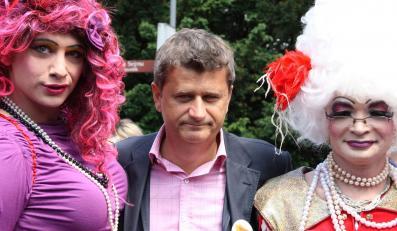 Janusz Palikot na Paradzie Równości