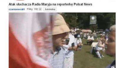 Słuchacz Radia Maryja uderzył reporterkę Polsatu! Zobacz awanturę