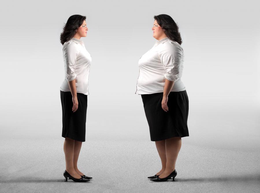 Kobieta szczupła i otyła