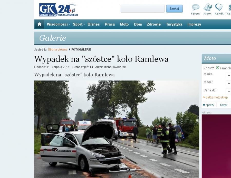 Wypadek rozegrał się niemal na oczach ministra Bartosza Arłukowicza