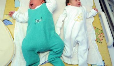 W berlińskiej klinice przyszedł na świat noworodek ważący 6080 gramów (po lewej)