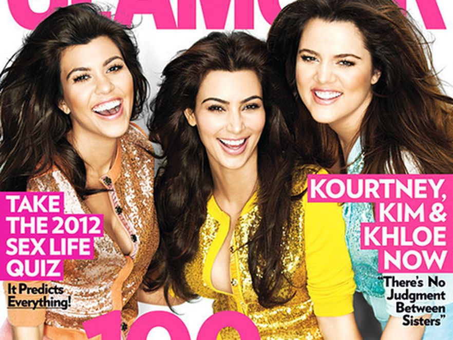 """Siostry Kardashian na okładce styczniowego numeru amerykańskiej edycji magazynu """"Glamour"""""""
