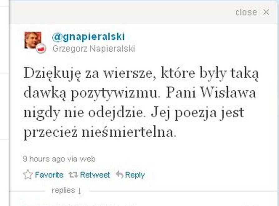 Grzegorz Napieralski na Twitterze