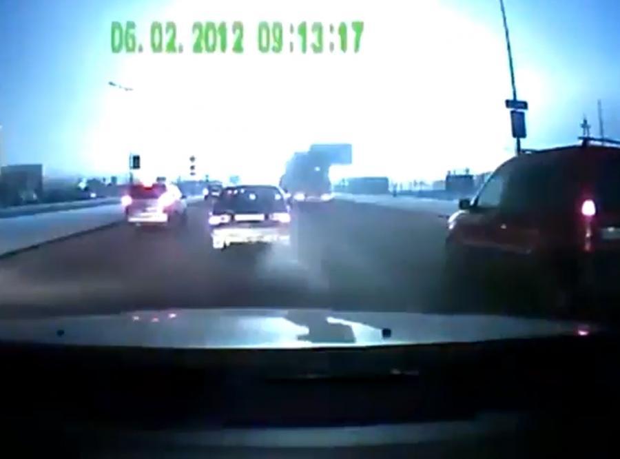 Niesamowita eksplozja nagrana z samochodu