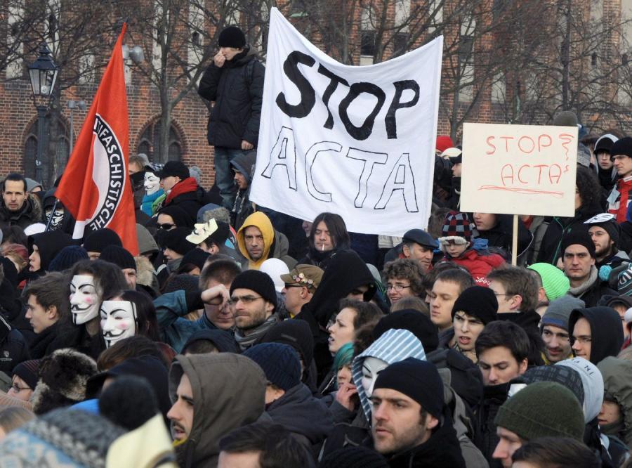 Polski bunt przeciw ACTA rozlał się na całą Europę