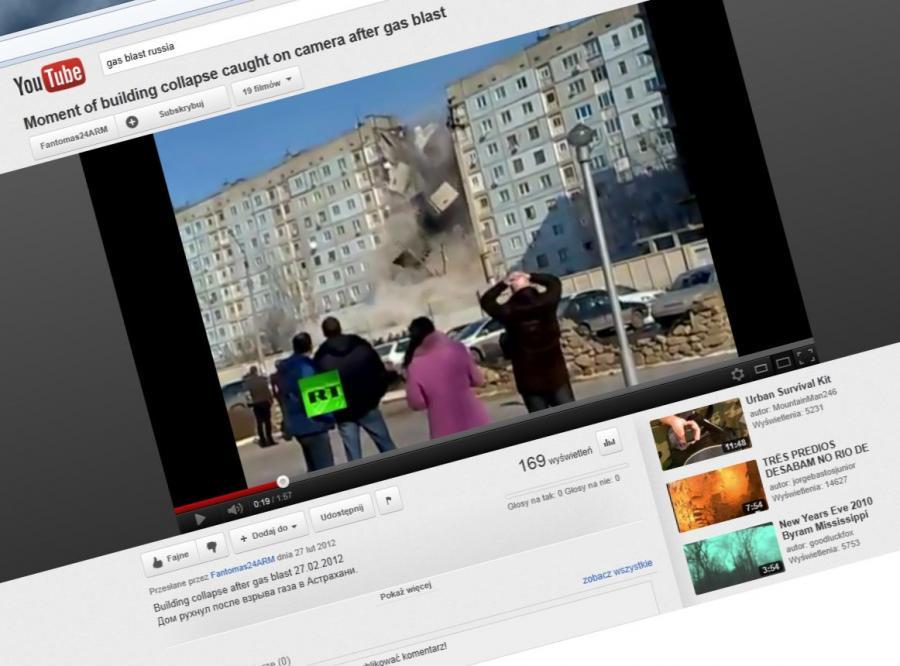 astrachań rosja wybuch eksplozja gaz