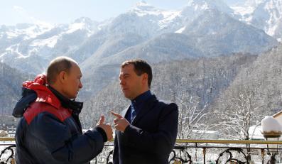 Włądimir Putin i Dmitrij Miedwiediew