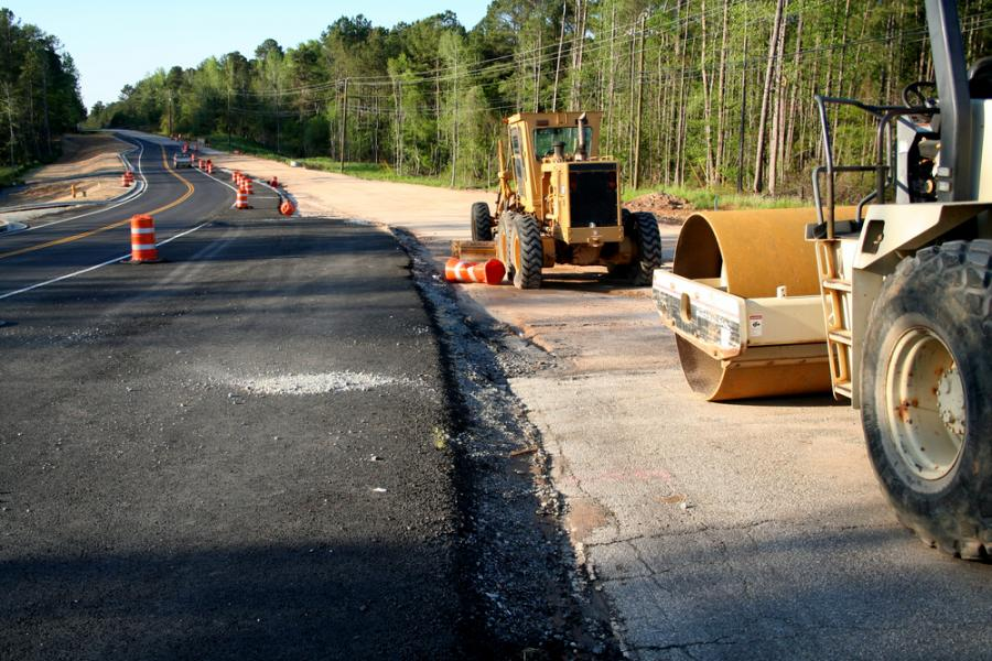 Maszyny na budowie drogi
