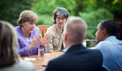 Angela Merkel na obradach szczytu G8