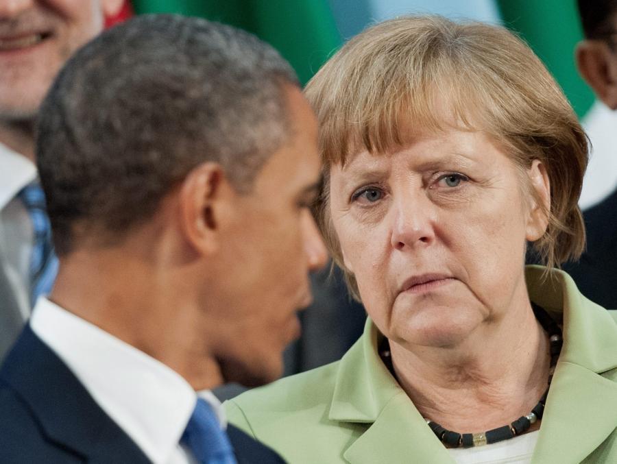Barack Obama i Angela Merkel na szczycie grupy G20